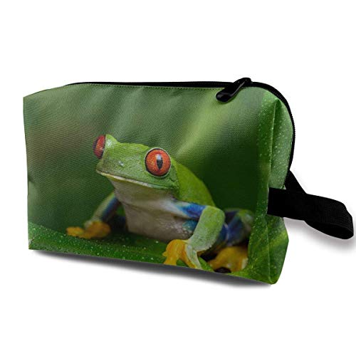Red Eyed Tree Frog Small Travel Toiletry Bag Super Light Toiletry Organizer for Overnight Trip Bag -