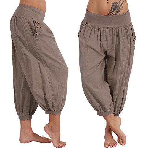 KIMODO® Damen Haremshose weites Bein, Frauen Baggy Boho Drucken Pumphose elastische Taille Sommer Yoga Jogging Hose Freizeit Pants Große Größen