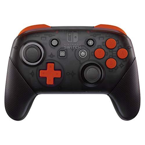 eXtremeRate Pulsante ABXY D-pad Tasto ZR ZL L R per Controller Nintendo Switch Pro,Soft Grip Pulsanti Tasti Ricambio con Cacciaviti per Nintendo Switch Pro Joystick(Arancione)-NON Controller