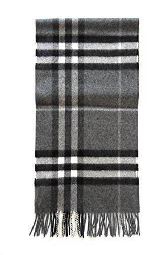 Burberry Tartan bufanda de cachemira hombre grigio