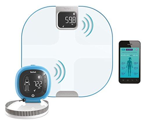 Tefal Body Partner YD3095S1 Pèse Personne/Balance Connectée, Capteur de Silhouette, Composition Corporelle, Compatible avec Health Kit et Google Fit