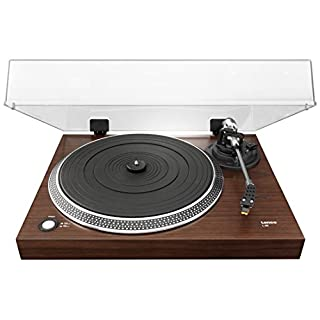Lenco L-90 Walnut Veneer Turntable with USB Connection