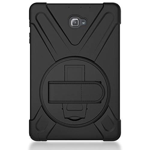 3C-LIFE Galaxy Tab A 10.1(2019)/T515 4-In-1 Rugged Sumsung Tablet Case, Multiple Layer Full-Body Tough Shockproof/Dustproof Armor Case with Stand/Shoulder Strap for Sumsung Tablet Tab für (Black) -