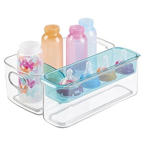 mDesign Sortierbox für Babyartikel – als Aufbewahrungsbox im Kinderzimmer oder in der Küche zur Babynahrung Aufbewahrung