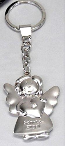Preisvergleich Produktbild Schlüsselanhänger ~ Schutzengel mit Herz ~ Engel Anhänger für Auto Schlüssel