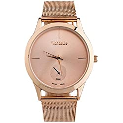 Watch, Tonwalk Fashion Alloy Belt Watch Unisex Minimalist Style Quartz Watch