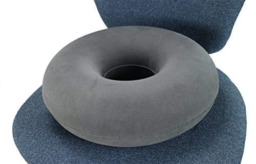 "ObboMed® SV-2500 Folding Inflatable Portable Orthopedic Ring Donut Seat Pillow Cushion for Reduce Pelvic, Tailbone, Coccyx Pressure, Hemorrhoid, Bedsores, Pregnancy, Postnatal, Pain Relief (15"")"