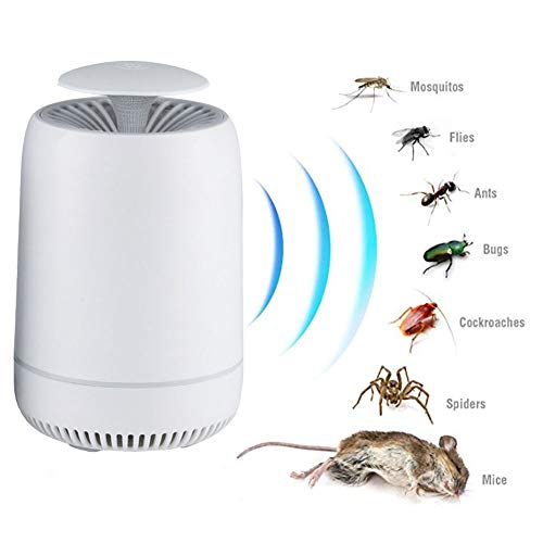 YOLE Ultraschall-Abwehrmittel - Premium Scaccia Anti-Moskito Tropical Mäuse - Abwehr gegen Parasiten Ratten Fliegen Kakerlaken Spinnen Ameisen Ameisen Fliegende Kakerlaken Anti-Mücken,White
