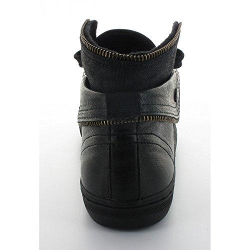 Basket Geox New Club Noir Zip Noir