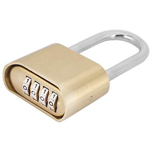 4 stellige Rostbeständiges Messing Coded Lock,Wasserdicht Passwort Schrankschloss Gepäckschloss für Gym Gym Locker, Sporttasche, Aktenschränke, Werkzeugkasten