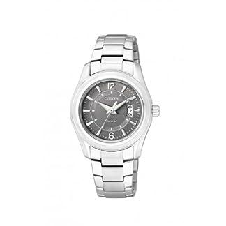 Citizen FE1010-57H – Reloj analógico de cuarzo para mujer, correa de acero inoxidable color plateado