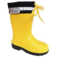 Lemigo Kim Kids Boys Girls Childrens Wellington Boots Rainy Snow Wellies (8.5 UK / 26 EU - 165 mm, Yellow)