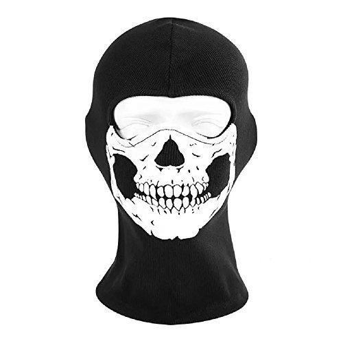 Sturmhaube Ghost Winter für Herren Damen Face Shield Ski Motorrad Paintball Airsoft Halloween Maske