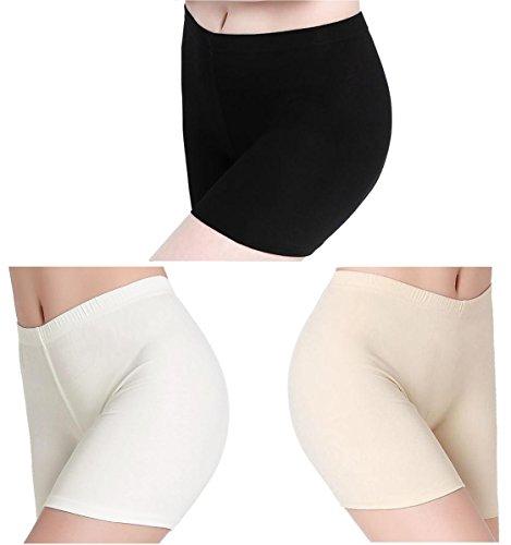 Damen Hose Unter Rock Kurz Shorts Leggings Sport - Stretch Ultra Dünn Leicht - Leichte Stretch-leggings