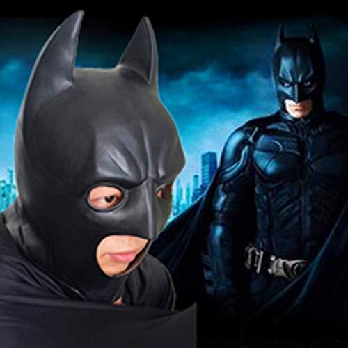 Batman Der Wahre Kostüm - SEJNGF Batman Dark Knight Mask Erwachsenen Halloween Latex Kopfbedeckung Kostüm Party Masken Karneval Cosplay Requisiten