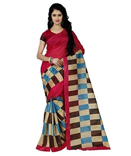 Trendz Bhagalpuri cotton silk saree(TZ_Jolly_Pink)  available at amazon for Rs.449