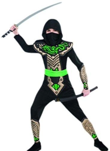 erdbeerloft - Jungen Drachen Ninja Kämpfer Karneval Faschingskostüm, 134, Mehrfarbig (Kämpfer Mädchen Kostüm)