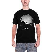 Bob Dylan T Shirt Guitar Contrast Distressed Band Logo Oficial de los hombres