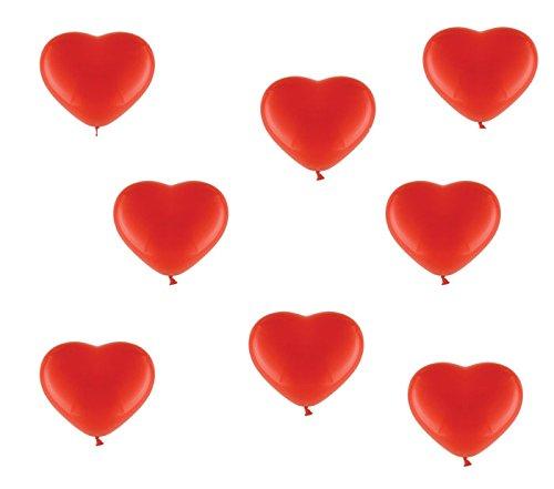 50palloncini cuore rosso-ca. Ø 30cm-50pezzi-Colore Rosso-palloncini cuore heliumgeeignet-Top qualità-twist4®