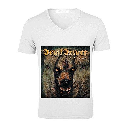 Trust No One Devildriver Mens V Neck Tee World Tour