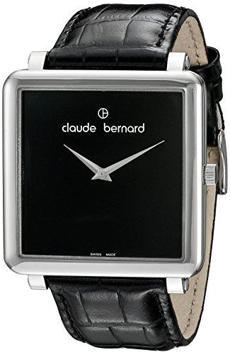 Claude Bernard Women's 20063 3 N Dress Code Analog Display Swiss Quartz Black Watch