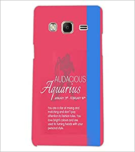 PrintDhaba Sunsign Aquarius D-1222 Back Case Cover for SAMSUNG Z3 (Multi-Coloured)