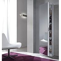 Armario zapatero con espejo. Color Blanco