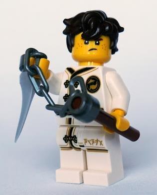 Lego The Ninjago Movie Figur - Jay im Wu-Cru Anzug Spinjitzu Training aus Buch
