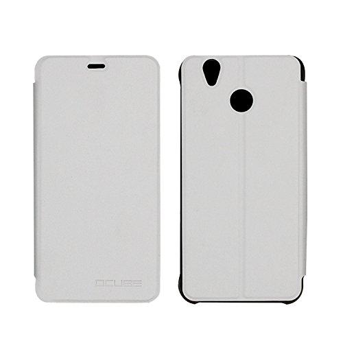 Guran® PU Leder Tasche Etui für Oukitel U7 Plus 5.5 Zoll Smartphone Flip Cover Stand Hülle Case-weiß