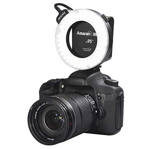 Shuo lan Kamerazubehör AHL-HC100 Höherer CRI 95+ Wert Amaran Halo-LED-Ringblitzlicht kompatibel mit Canon