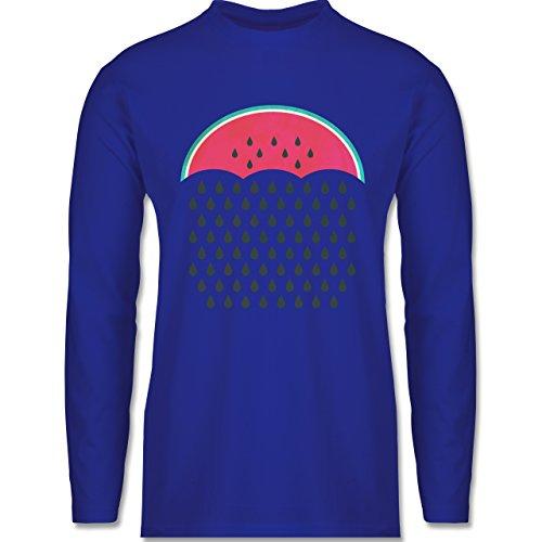 Shirtracer Statement Shirts - Watermelon Rain - Herren Langarmshirt Royalblau