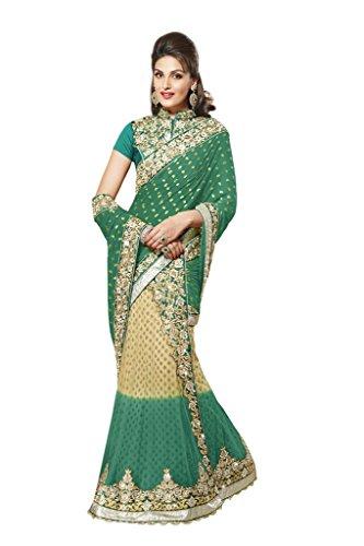 Mahotsav Women's Chiffon,Net,Satin Art Silk one minute Sarees ( 4124 F )  available at amazon for Rs.2655