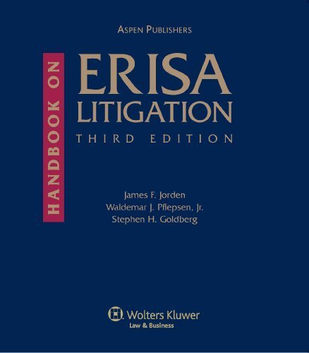 Handbook on ERISA Litigation, Third Edition by James F. Jorden (2006-12-19)