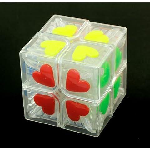 Andonger F / S 2X2 trasparente del cuore di piastrella del cubo di velocit¨¤ Puzzle