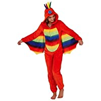 GladRags® Womens Ladies Girls 3D Parrot Hooded Onesie with Wings All in One Suit Nightwear Size Large UK 16-18
