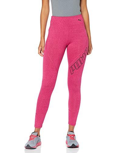 Puma Damen Yogini Logo 7/8 Tight Leggings, Fuchsia Purple Heather, S Fuchsia Leggings