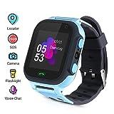 Openuye Smartwatch Kinder, Smartphone mit LBS-Standort, SOS, 1,44-Zoll-LED-Touchscreen-Uhr mit Digitalkamera, SIM-Anrufe, Wecker für Jungen und Mädchen, kompatibel mit iOS und...