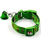 JHion Weihnachten Haustierkragen Hundehalsband Mode Haustier Halsbänder Grün 2 Pcs