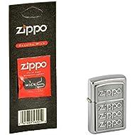 Zippo briquet zippo 2.004.503.1 4 logo 3D, plus de mèche zippo collection 2015 satin finish