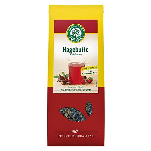 Tee Hagebuttentee fruchtig frisch, handgepflückt, vegan, vegetarisch, 100g - Bio