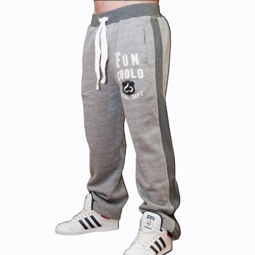 Fun Coolo Pantaloni tuta sportivi felpati MTP grigio S