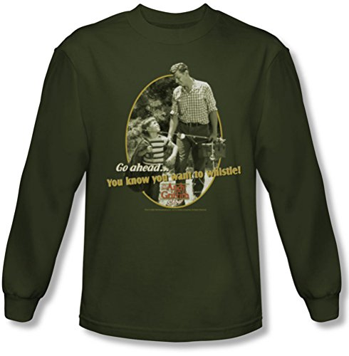 Andy Griffith - Männer Gone Fishing Langarmshirt In Militärgrün Military Green
