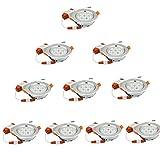 SAILUN 10 x 7W LED Einbauleuchte Einbaustrahler Warmweiß Einbau Strahler Einbauspot Set Decken Lampe Leuchte (10 * 7W Warmweiß)