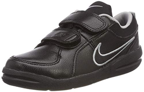 Nike Unisex-Kinder Pico 4 (PSV) Low-Top Schwarz Black-Metallic Silver), 28 EU