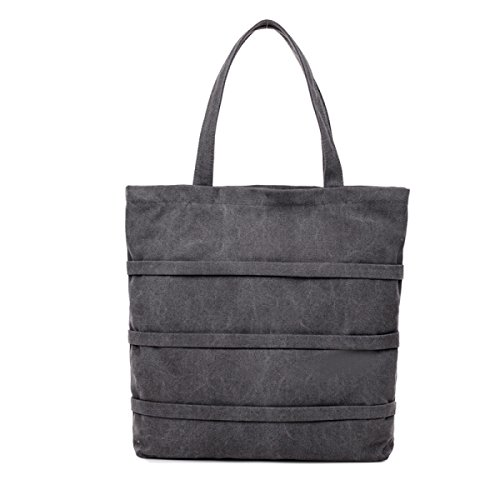 Fan Casuale Arte Tela E Semplice Shopping Bag Borsa Selvaggia Sacchetto Di Spalla Portatile Signora Grey