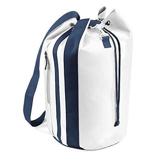 Bagbase - Sac marin - 28 litres (One Size) (Blanc/Bleu marine)