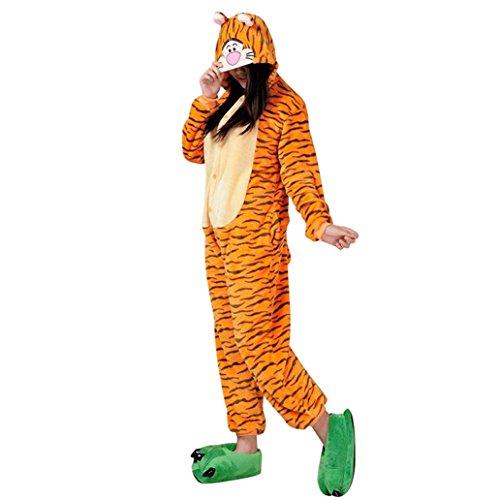 Keral Cosplay Kostüme Tierkostüme Erwachsene Pyjamas Kostüm Pyjamas Tiger Größe (Tiger Damen Kostüm)