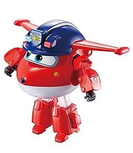 Super Wings Vehículo Transformador | Serie 3 | Jett de policía | Avión | BOT | Figura de 5 Pulgadas, Color Mixto (Alpha Group Co, Ltd EU730231)