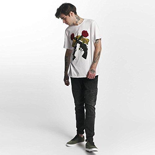 Amplified Herren Oberteile/T-Shirt Guns N Roses Shooting Roses Weiß