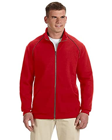 Gildan Premium CottonTM 9 oz. Ringspun Fleece Full-Zip Jacket, Red,